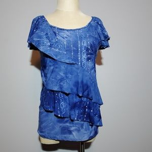C Notations ruffle blouse Small